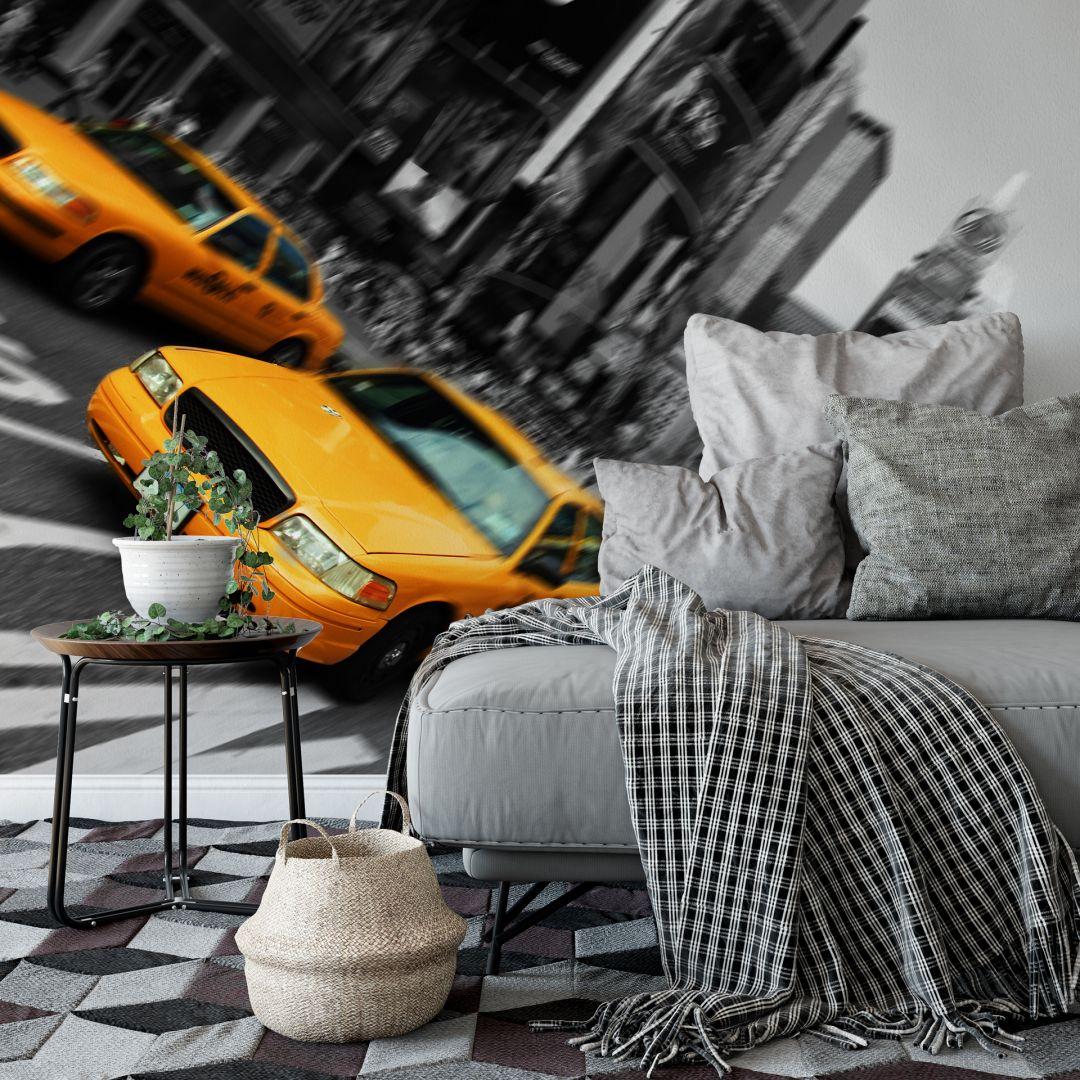 Fototapeta żółta taksówka Nowy Jork